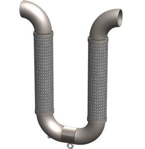 """""""U"""" Loop plus spool with weld connection"""